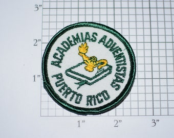 Academias Adventistas Puerto Rico Sew-on Embroidered Clothing Patch Logo Emblem Insignia Collectible Crest Sewing Notion Applique