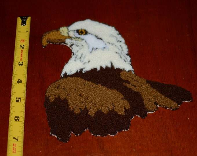 Soft Fuzzy Thick Bald Eagle Vintage Sew-on Clothing Patch Patch Kid Clothing Jacket Shirt Blanket Pajamas Fun Sewing Craft Idea for Children