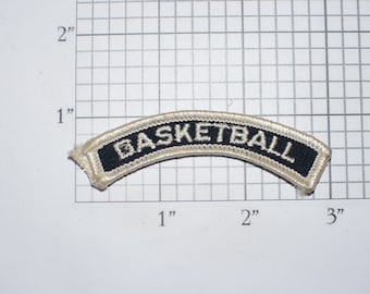 Basketball Small Iron-on Vintage Embroidered Clothing Patch Top Rocker Tab Vest Jacket Uniform Sports Athlete Hoops Baller Gift Idea