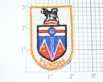 Yukon Canada Coat of Arms Sew-On Vintage Embroidered Travel Patch Emblem Trip Souvenir Gift Idea Collectible Keepsake Crest Badge