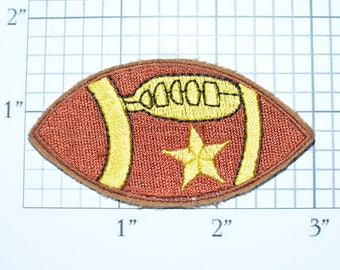Football Iron-On Vintage Patch Fun Craft Applique Children Gift for Kids Clothing Patch Jacket Patch Hat Patch Shirt Patch Fan Insignia e15J