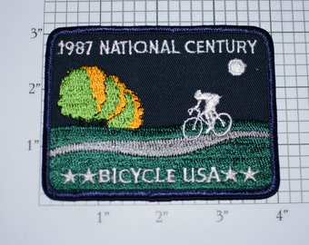 Bicycle USA 1987 National Century Iron-on Vintage Embroidered Clothing Patch Cycling Collectible Memento Cyclist Event Souvenir Fitness Gift