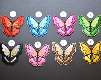 Butterfly Iron-on Patches, Cute Fun for Jeans Patch Jacket Patch Backpack Patch Embroidered Patch Shirt Patch Sun Dress Patch Appliques e10k