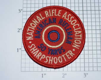 National Rifle Association Sharpshooter American Rifleman 50 Yards Award (NRA) Rare Sew-on Vintage Embroidered Patch Shooting Memorabilia