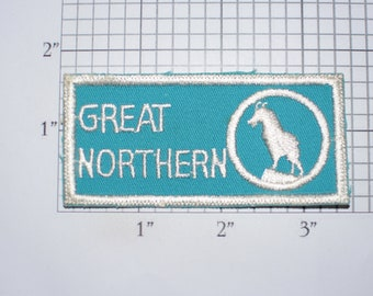 Great Northern (Railway) Sew-On Embroidered Clothing Patch Train Souvenir Logo Emblem Collectible Memorabilia Applique Gift Idea Keepsake