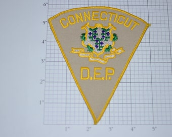 Connecticut D.E.P. (Department of Environmental Protection) Vintage MINT Iron-on Embroidered Clothing Patch Officer Uniform Shoulder Emblem