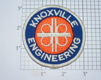 Knoxville Engineering Iron-On Vintage Embroidered Clothing Patch for Employee Uniform Work Shirt Jacket Emblem Collectible Memento Crest