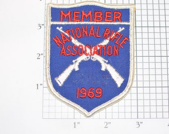 National Rifle Association (NRA) Member 1969 Rare Sew-On Vintage Embroidered Clothing Patch Shooter Collectible *Only 1 Available*