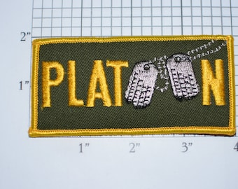 Platoon LICENSED (Joy Insignia) Vintage Iron-On Vintage Patch Oliver Stone Movie Memorabilia Rare Insignia Cosplay Costume Dog Tags Emblem