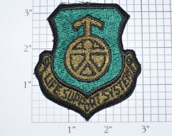 USAF Life Support System Vintage Iron-on Embroidered Patch Military Uniform Subdued Militaria Collectible Memorabilia