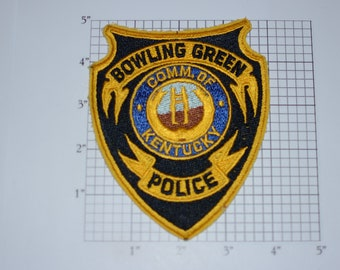 Bowling Green Kentucky KY Police Sew-On Vintage Embroidered Clothing Patch Uniform Shoulder Jacket Vest Shirt Costume Cosplay Collectible