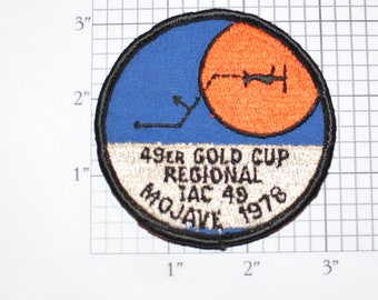 49er Gold Cup Regional IAC 49 Mojave (California) 1978 Sew-On Embroidered Clothing Patch (International Aerobatics Club) EAA Event Souvenir