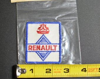 1960's Dal-Emblem Licensed Vintage Renault Automobile Swiss Embroidered Patch Sew-on Applique Sports Car Emblems Automobilia Collectible t1