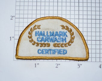 Hallmark Carwash Certified Rare Sew-on Vintage Embroidered Clothing Patch (Dirty / Dingy / Stained - Examine pic closely)