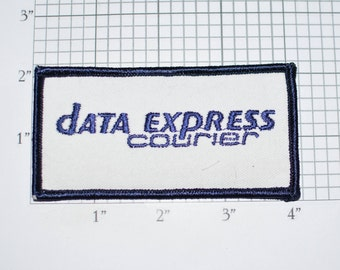 Data Express Courier Vintage Embroidered Iron-on Clothing Patch for Jacket Shirt Vest Uniform Workshirt Employee Emblem Cosplay Costume e33h