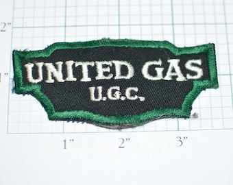 UNITED GAS U.G.C. Read Full Description for History ULTRA Rare Vintage Sew-On Uniform Patch Oil Gas Exploration Processing Distribution f1j