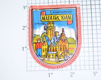 Madurodam Miniatuurstad Den Haag Netherlands Rare Sew-On Vintage Patch Trip Travel Souvenir Gift Traveler Scrapbook Shadowbox Keepsake Crest