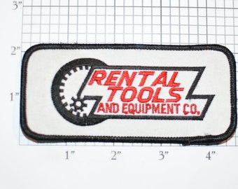 Rental Tools And Equipment Embroidered Iron-on Clothing Patch Company Employee Logo Uniform Work Shirt Emblem Construction Home Improvement