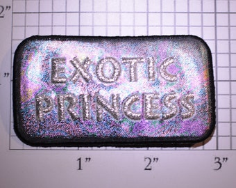 Exotic Princess (Bulk Lot of 10) Sparkly Reflective Multi-color Vintage Iron-on Embroidered Clothing Patch Jacket Vest Shirt Purse Ladies