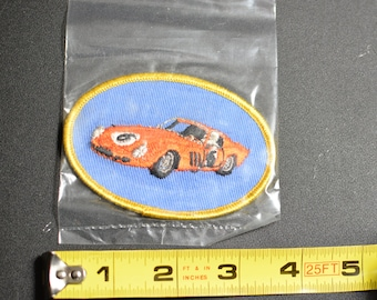 Dal-Emblem Licensed Vintage 1963 Ferrari 250 GT Swiss Embroidered Patch Sew-on Applique Sports Car Emblems Automobilia Collectible t1