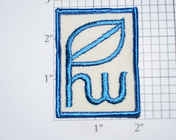 Letters HW (Possibly) Iron-On Applique Embroidered Clothing Patch Logo Insignia Emblem Clothes Accent Monogram Idea Shirt Jacket Hat