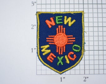 New Mexico Colorful State Crest Iron-On Vintage Embroidered Travel Patch Emblem Badge Trip Souvenir Gift Idea Collectible Vacation Memento