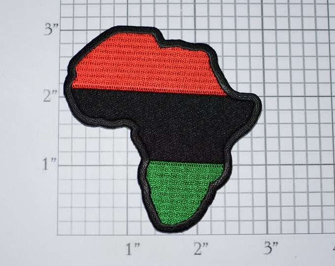 Pan African Rare Vintage Iron-on Embroidered Clothing Patch Black Liberation UNIA Africa Ethnic Pride Jean Jacket Backpack Accessory Memento