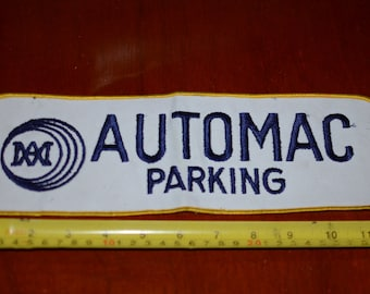 Automac Parking (California Business) Large Iron-on Vintage Embroidered Back Patch for Employee Uniform Jacket Work Shirt Company Worker