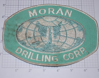 Morn Drilling Corp Large Sew-on Vintage Embroidered Back Patch (Dirty/Dingy) Uniform Jacket Shirt Employee Work Shirt Emblem Contractor