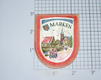 Marken Netherlands Beautiful RARE Sew-On Vintage Travel Patch Emblem Trip Souvenir for Jacket Backpack Scrapbook Memory Box Crest Emblem