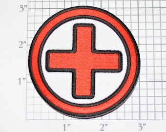 MEDIC EMS RN CIRCLE EMBROIDERED 3.0 INCH IRON ON PATCH