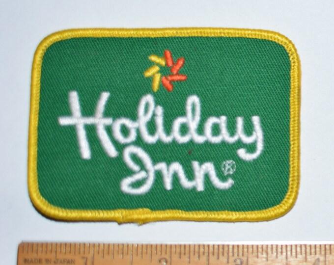 HOLIDAY INN Iron-On 1970's Vintage Embroidered Patch for Uniform Jacket Shirt Hat Vacation Resort Logo Traveler Hotel Front Desk Clerk s20