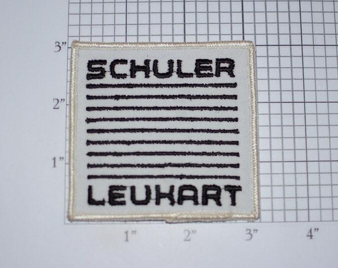 Schuler Leuhart Auto Parts Iron-On Vintage Embroidered Patch Employee Uniform Shirt Jacket Emblem Logo Work Shirt Garage Car Mechanic Tech