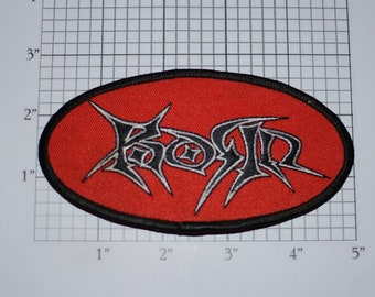Korn Vintage Iron-On Embroidered Clothing Patch Licensed Merchandise American Nu Metal Band Formed 1993 - Make Your Own DIY Fan Garment