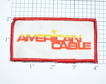 American Cable (Dirty and/or Distressed) Vintage Sew-on Embroidered Clothing Patch for Uniform Shirt Jacket Vest Emblem Logo Insignia