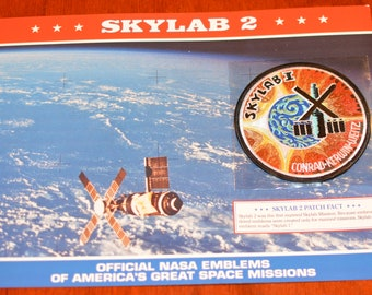 Skylab 2 Conrad Kerwin Weitz DISCONTINUED Mint NASA Space Mission Patch w/ Statistics and Fact Card Collectible Aerospace Memento