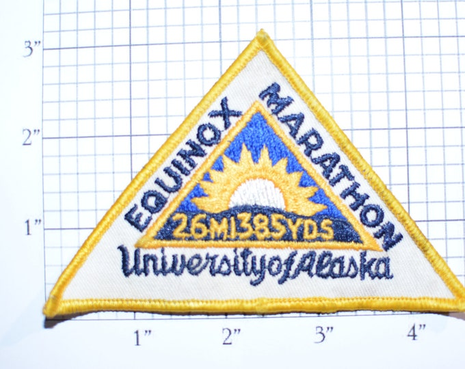 Equinox Marathon University of Alaska 1970's Iron-On Patch Jacket Patch Vest Patch Shirt Patch Hat Patch Backpack Patch Running e20n