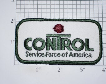 Control Service Force of America Iron-on Vintage Embroidered Clothing Patch for Employee Uniform Jacket Shirt Vest Corporate Contractor