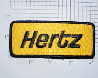 Hertz RARE Iron-On Vintage Embroidered Clothing Patch for Employee Uniform Shirt Jacket Vest Hat Truck Driver Logo Emblem Insignia Crest