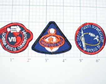 Apollo Missions 7 8 9 NASA Sew-On Vintage Patches - Choose 1 or all 3 - small appliques - Spaceflight Rocket Astronaut USA  e1