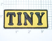 TINY Iron-On Embroidered Clothing Patch for Shirt Jacket Vest Hat Backpack Jeans Purse Nickname Novelty Emblem DIY Clothes Craft Biker t02a