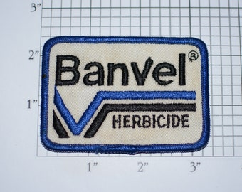 Banvel Herbicide Vintage Embroidered Clothing Patch (Dingy) for Uniform Jacket Shirt Vest Company Emblem Logo Crops Agriculture Farmer