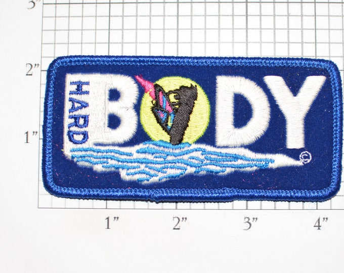 Hard Body (Surf Board) MINT Vintage Iron-On Embroidered Clothing Patch for Jacket Vest Backpack Souvenir Memorabilia Keepsake Surfer Surfing