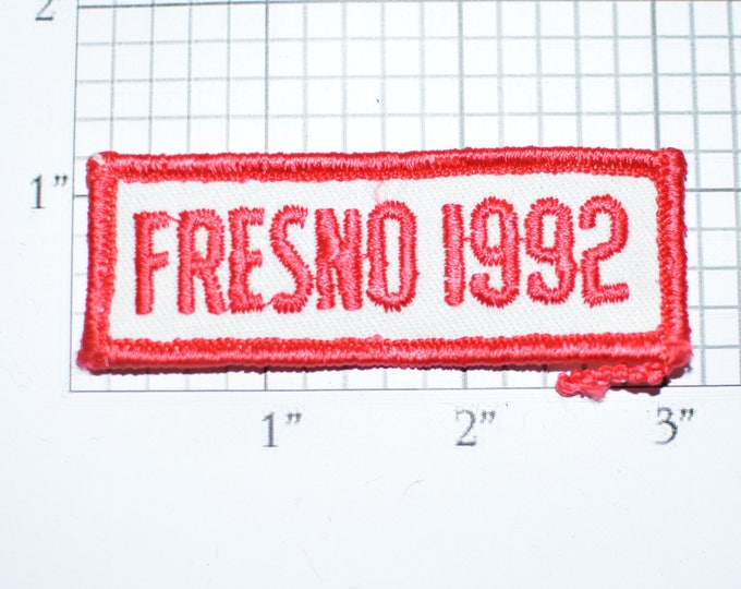 Vintage Fresno 1992 Iron-on Embroidered Clothing Applique Patch Tab California CA Graduation Class Of Year DIY Clothes Craft Shirt Vest e28f