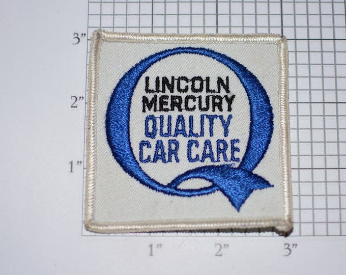 Lincoln Mercury Quality Car Care Auto Service Sew-On Authentic Vintage Embroidered Clothing Patch Automobile Collectible Garage Mechanic
