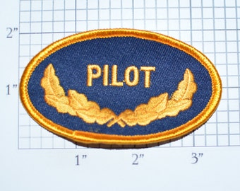 Pilot Uniform Shirt Wings Iron-on Patch Embroidered Patch Vintage Patch Sewing Applique Shirt Patch Jacket Patch DIY Clothing Patch e32p