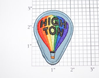 HIGH TON Darts Achievement Vintage Iron-on Embroidered Clothing Patch Applique Player Emblem Award *Only 1 in stock* for Jacket Vest Shirt