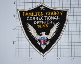 Hamilton County Correctional Officer Tenn (Tennessee) Sew-On Vintage Embroidered Clothing Patch Officer Uniform Shoulder Emblem Collectible