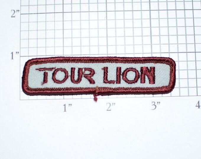 Tour Lion Sew-On 1980's Vintage Clothing Patch for Biker Jacket Vest Tab Motorcycle Collectible Emblem Insignia Crest Clothes Memorabilia