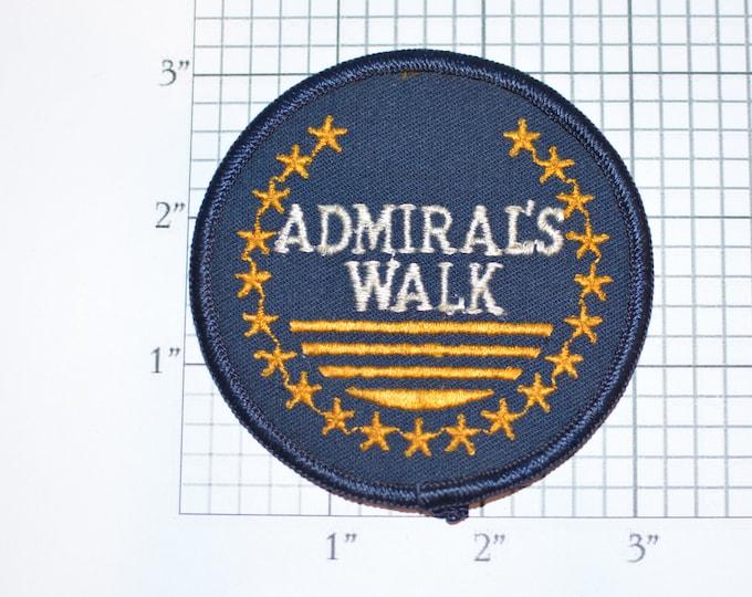 Admiral's Walk Iron-On Vintage Embroidered Clothing Patch for Jacket Vest Jeans Backpack DIY Clothes Travel Trip Souvenir Keepsake Emblem